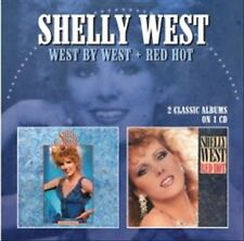 """SHELLY WEST, CD """"2 CLASSIC ALBUMS ON 1 CD"""" """"WEST BY WEST"""" & """"RED HOT"""" NEW SEALED"""