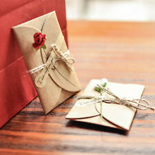 5pcs DIY Kraft Paper Wedding Party Invitation Greeting Card with Envelope  Mini