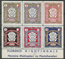 1960 TURKEY RED CRESCENT BIRTHDAY OF FLORANCE NIGHTINGALE  BL. MNH