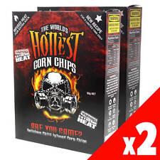 World's Hottest Corn Chips Carolina Reaper & Scorpion Extreme Chilli 2 Pack