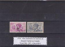 France  Jacques Cartier 1934  Yvert &Tellier n°296 - 297