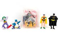 Batman Robin Catwoman Joker Penguin Mini Figures McDonalds Toys Applause 1989