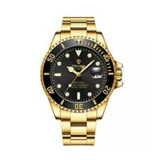 Tevise Mens Homage Automatic Watch Black Gold Smart Watches Date Designer Gift