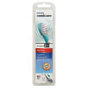 Philips Sonicare Compact 2 toothbrush heads Extra Soft for Kids