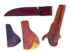 Leather Holster  / Scabbard Bundle Lot of 4