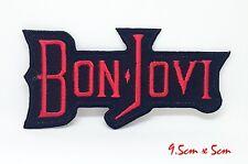 Bon Jovi Rockmusik Bestickt Nähen Bügel Patch Applikation #084