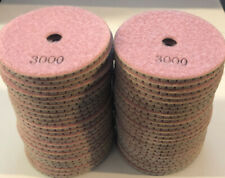 "4"" 3000 Grit Diamond Wet Polishing Pad for Granite, Marble & Eng. Stone (50 pcs)"