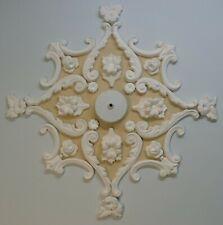 Plaster Ceiling Rose/ Design, Home Decor, Victorian Style, Plaster of Paris
