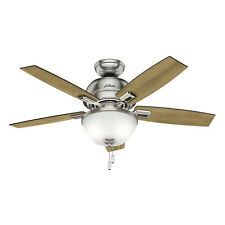 Hunter Fan Company 52227 Donegan Indoor 44 Inch Ceiling Fan with 1 Light, Nickel