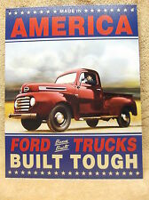 Ford Truck Built Tough Tin Metal Sign Decor Car Automobile NEW