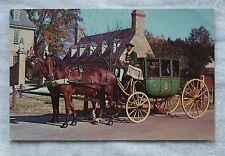 1966 Kodachrome Walter H.Miller POSTCARD - RANDOLPH COACH, WILLIAMSBURG VIRGINIA