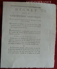 DECRET DE LA CONVENTION pour assurer EN VIANDE LA SUBSITANCE DES TROUPES - An II