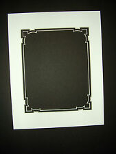 Picture Framing Mat Fancy Cut 11x14 for 8x10 photo White with black liner mat