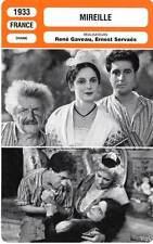 FICHE CINEMA : MIREILLE - Lurie,Brunil,Clariot,Gaveau,Servaës 1933