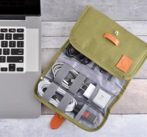 Olive Electronics Organizer Bag,
