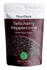 Viva Doria Tellicherry Peppercorn Steam Sterilized Whole Black Pepper 12 Oz BL