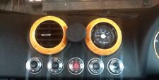 AUDI TT MK1 8N Set Dash SWITCH CAP Surround Anelli Trim in lega in alluminio lucido