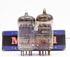 Pair of Vintage Mullard/Iec Ecc82/12Au7 Gray Plates Tubes. Test Good!