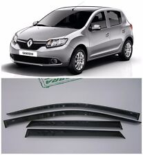 For Renault Sandero 2014- Side Window Visors Sun Rain Guard Vent Deflectors