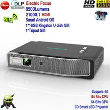 2018 New 4K DLP High Brightness 8500 Lumens 3D WiFi Full HD LED Projector HDMI