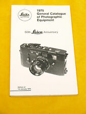 50th Leica Anniversary-Leica General Catalogue of Photographic equipment 1975