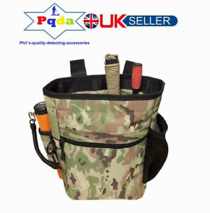 Metal Detecting Detector Large Heavy Duty Finds Accessory Bag Pouch CP Camo. NEW