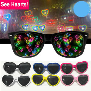See Hearts! - Heart Effect Diffraction Glasses - Special Effect Rave EDM Eyewear