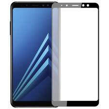 Samsung A8 2018 - Film protection écran en verre trempé résistant (NOIR)