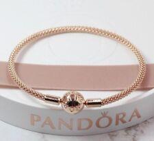 Pandora Rose - 21 cm - Moments Rose Mesh Bracelet - 586543 + Pandora Box