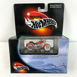 Hot Wheels 2000 Harley Davidson Fatboy in Red 100% Hot Wheels