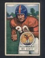 1951 Bowman #128 Joe Scott VGEX NY Giants 100517