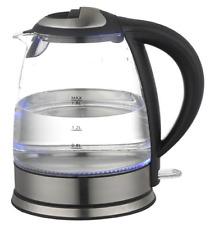 Wasserkocher 1,8liter 2200Watt Edelstahl Glass Glaß LED beleuchtet Kabellos NEU