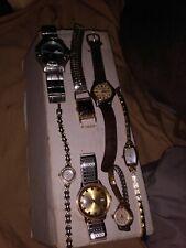 7 Watch Lot Timex Lord Elgin Geneva Wyler Anne Klein Armitron Now