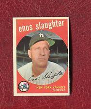 1959 TOPPS #155 ENOS SLAUGHTER (HOF)  NEW YORK YANKEES SET BREAK NMMT+ / MINT