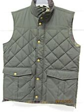 Barbour Boxley Gilet Vest  Men's L Black Waxed Cotton Quilted