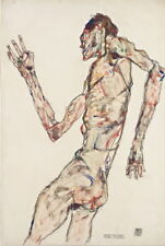 Egon Schiele The Dancer Giclee Canvas Print Paintings Poster Reproduction