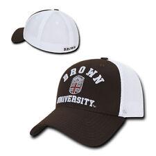 NCAA Brown University Structured Mesh Flex Baseball Caps Hats