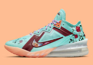 Nike Lebron 18 Low Mimi Plange Daughters Floral Men's Basketball Shoes Size 14