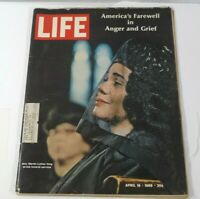 "LIFE MAGAZINE APRIL 19,1968, ""MRS. MARTIN LUTHER KING COVER"" AMERICA'S FAREWELL"