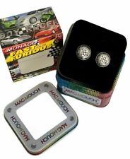 Fast Furious Cuff Links Gear Stick Car Tin Box Mag Mouch Novelty Racing  NEW
