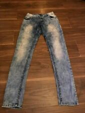 ANULE LADIES ACID WASH SKINNY JEANS SIZE 8 28W 34L
