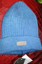 Unisex Accessory Hat Italian Brand-Made Cotton & Silver Blue Beanie Head Cover