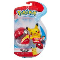 Pokemon Pop Action Poke Ball Pikachu Soft Toy Launch Up to 10 Feet!
