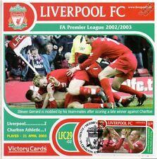 Liverpool 2002-03 Charlton Ath (Steven Gerrard) Football Stamp Victory Card #229