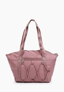Nike One Tote Bag Women's Black Shoulder Shopper Zip Swoosh  Bag  Swoosh