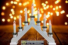 7 Bulb Flickering White Christmas Candle Bridge Arch Light Decoration Indoor