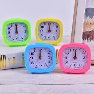 2020 New Alarm Clock Bedroom Square Small Bed Compact Travel Quartz Beep cloNBI