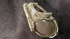 Agate Wire Wrapped Sterling Silver Pendant Handmade Artisan Design Heady
