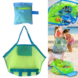 Extra Large Mesh Beach Shoulder Mesh Storage Bag For Kids Toy Clothes Foldable
