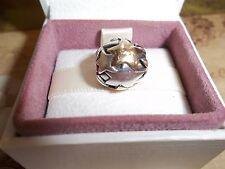 Original Authentisch Pandora Silber & 14ct Gold Groß Sterne Charm 790871
